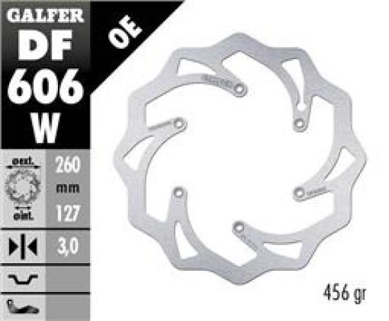 Galfer передній гальмівний диск КТМ/Husqvarna 260x3.2mm