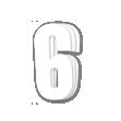 Blackbird White Number 6