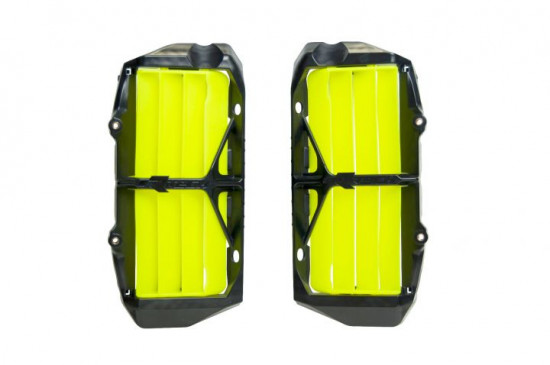 RTech Oversize Radiator Louvres КТМHusqvarna 19-21 Black - Neon Yellow