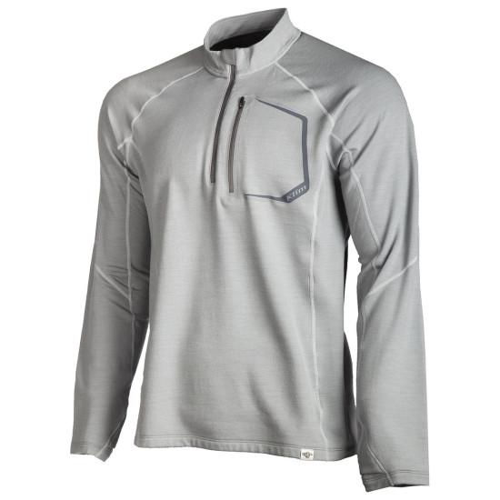Klim Teton Merino Wool 1/4 Zip XL Gray
