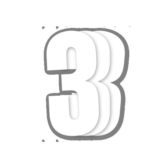 Blackbird White Number 3